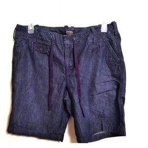 Eddie Bauer Dark Wash Denim Shorts with Tie